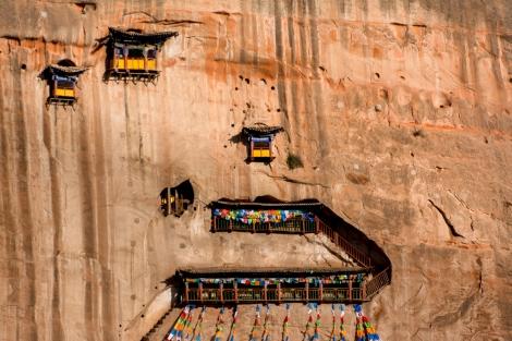 Tavatimsa Grottoes, Mati Si, Gansu Province, China