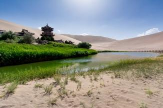 Crescent Moon Lake, Dunhuang, Gansu Province, China