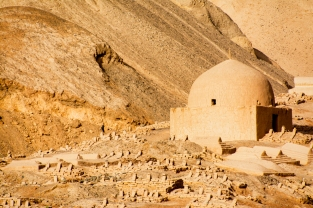 Mausoleums near Tuyoq, Turpan, Xinjiang Province, China