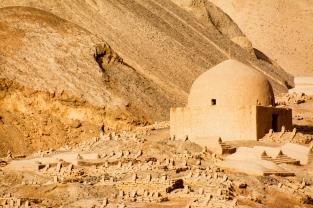 Mausoleums near Tuyoq, Turpan, Xinjiang Province, China