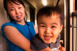 On board the Trans-Siberian railway from Beijing to Ulan Baatar